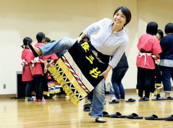 相撲甚句踊り練習