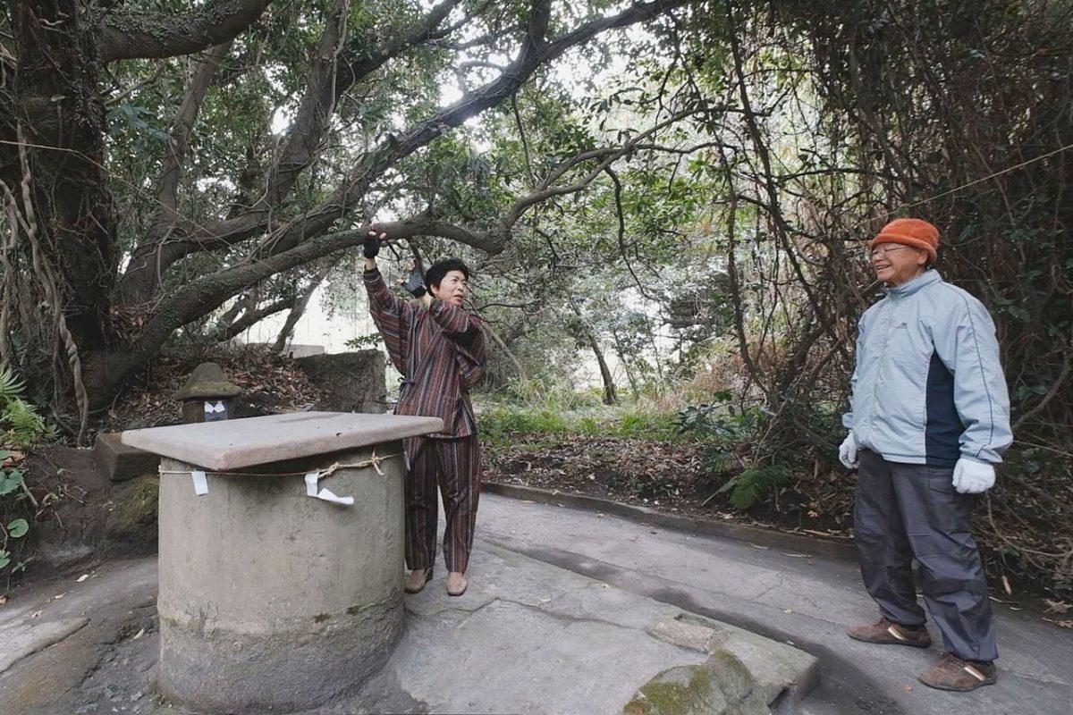 かつて島の暮らしを支えていた井戸。昔は子どもたちの社交場だった