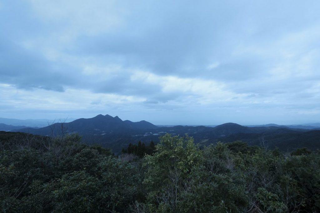 工房から望む金峰山