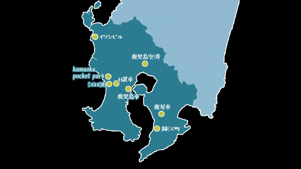 インタビュー内で登場した場所は県本土の東西南北に及ぶ